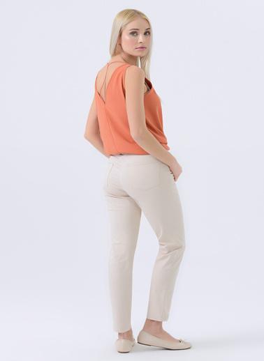 Gusto Kadın Siyah 5 Cepli Dar Paça  Pantolon 20YG001110 Bej